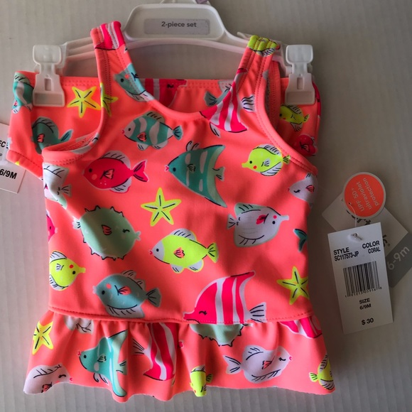 Carter's Other - Carter's two-piece coral swimsuit NWT